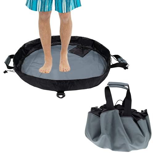 CHENYI Traje de neopreno impermeable para surf, con bolsillo interior y asa/correa para el hombro, para surfistas, kayak, rapera y remo, color negro