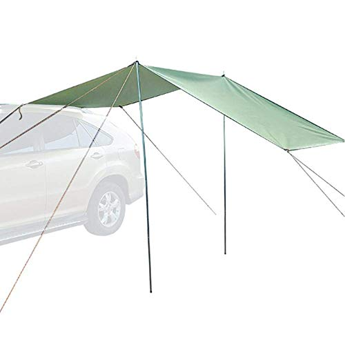 Qazxsw car awning, motor tarp awning, for camping bus, caravan, awning, motorhome. Waterproof portable camping tent car roof canopy, 440 * 200cm