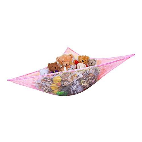 blanco animales de peluche ositos TANCUDER Hamaca de juguete para ni/ños de tama/ño grande con relleno de animales para almacenamiento de juguetes hamaca de malla organizadora de juguetes blanditos