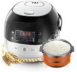 Multi hornear arroz digital inteligente con control de temperatura preciso en 6 pasos y un temporizador programa de 24 horas