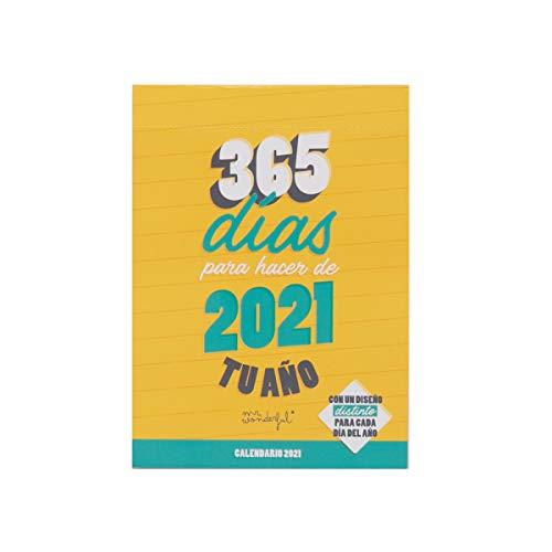 Calendario de sobremesa día por página - 365 días para hacer de 2021 tu año