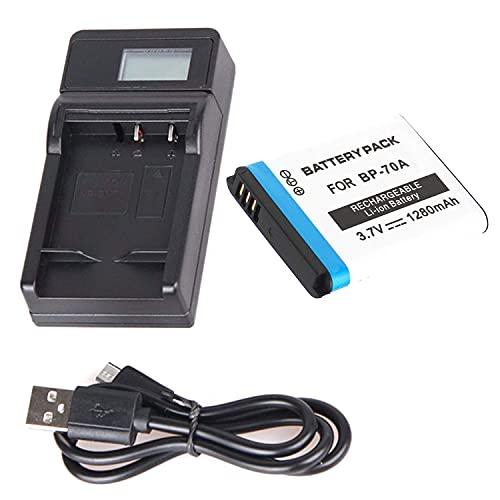 F-MINGNIAN-SPRING Kit de cargador de batería rápido para cámaras digitales Samsung TL105, TL110, TL205 (color 1 pila y 1 cargador USB LCD)