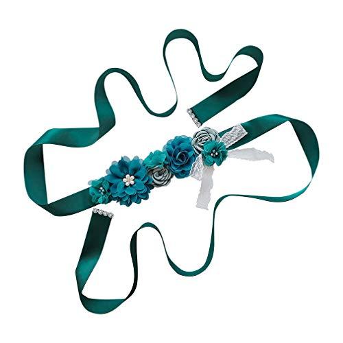 WEIMEITE Boda nupcial vestido de fiesta Sash cinturón hecho a mano cinturones de flores cinta
