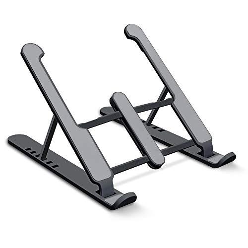 aifulo Soporte para portátil de altura regulable, negro, soporte para portátil, plegable, antideslizante y resistente a los arañazos, compatible con portátiles de 11 a 15,6 pulgadas