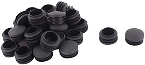 DealMux Plastic Meubels Tafelstoel Ronde Buis Insert Buizenstelsel Cap Pijp Cover 35mm Dia 30st Zwart