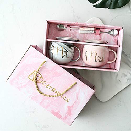 Copa De Vino Taza De Café Tazaluxury Ceramic Coffee Mug Marble Coffee Cup Milk Tea Breakfast Cups Pink Gold Cute Cup Wedding Bridal Co