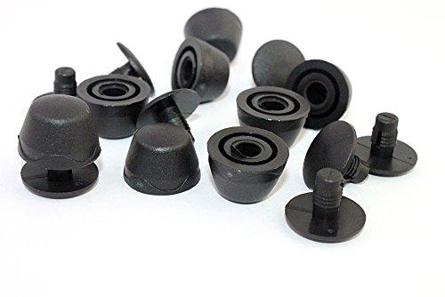 Taschenfüße-Standfüße für Taschen und Rucksäcke. 10 Stück in schwarz. TOP Qualität.