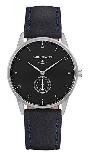 Paul Hewitt Reloj analogico para Unisex de Cuarzo con Correa en Piel PH-M1-S-B-11M