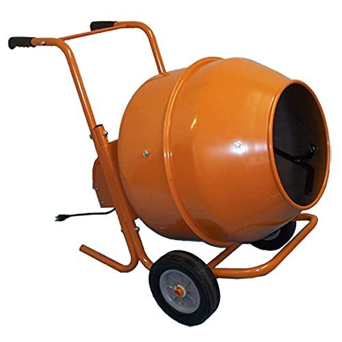8 CU FT Wheel Barrow Portable Cement Concrete Mixer