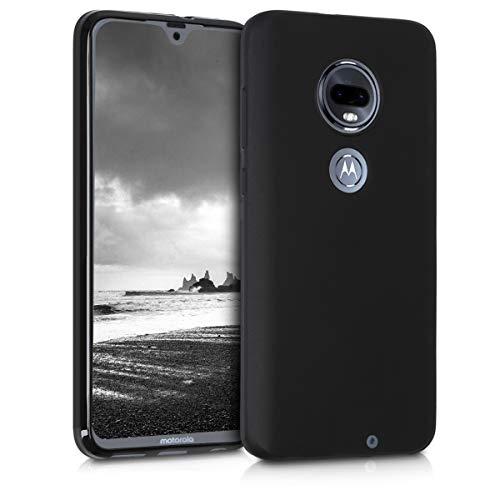 kwmobile Hülle kompatibel mit Motorola Moto G7 / Moto G7 Plus - Hülle Silikon - Soft Handyhülle - Handy Hülle in Schwarz matt
