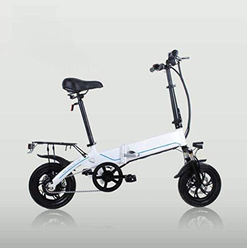 Bicicleta EléCtrica Plegable Adulto 12' eléctrica plegable de la bicicleta de la ciudad de E-Bici Velocidad máxima 25 kmh, a 40 km de largo alcance, Doble Disco Brak, la asistencia eléctrica de bicicl