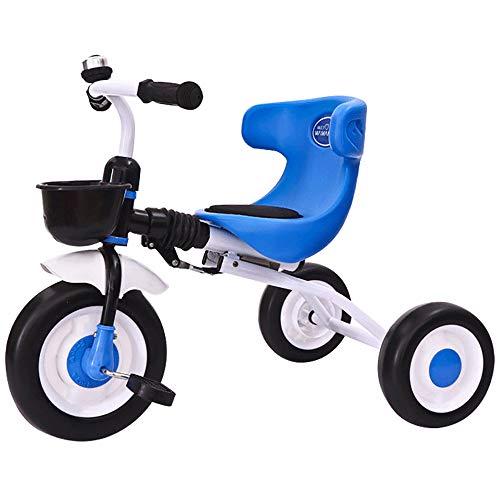 Triciclos Bebes Evolutivo, Plegable Bebé con Mango Trike Smart Bici para Niños,Neumáticos para Coches y Conducción Silenciosa,18 Meses - 5 Años,hasta 30kg, Blue