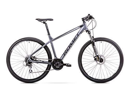 ROMET Herren Rambler Mountainbike, anthrazit-schwarz, Größe M Aluminium Rahmen 29 MTB Mountain Bike Crossbike Fahrrad Shimano 21 Gang 17 Zoll