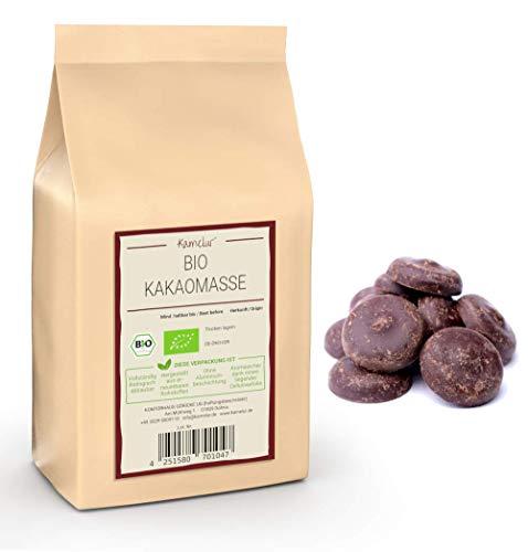 500g BIO Kakaomasse aus Criollo Kakaobohnen - Rohkost - BIO Kakao Masse, vegan und ohne Zusätze - biologisch abbaubare Verpackung