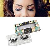 Keliya 5D Mink Eyelashes 25mm 1 Pair Handmade Reusable Dramatic Fluffy False Lashes for Daily Makeup, Professional Applications