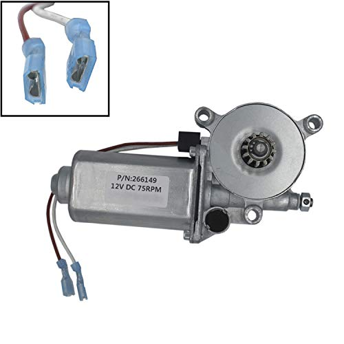 266149 RV Motorhome Power Awning Motor Replacement Universal Motor 12-Volt DC 75-RPM Compatible with Solera Power Awnings Including Flat, Pitched and Short Assemblies