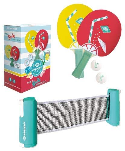 Donic-Schildkröt Unisex– Erwachsene Spin Tischtennis Set, Pastell, One Size