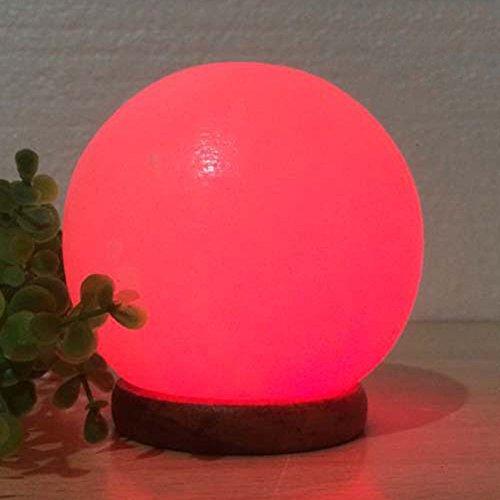 CHEYAL Forma De La Bola De La Lámpara De La Sal, Lámpara Cristalina De La Sal del Himalaya 9 * 10Cm De Colores