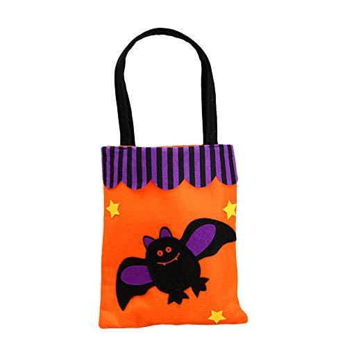 XQxiqi689sy Felice Halloween calabaza caramelo tote bolso no tejido bolso bolso puch Party Decor