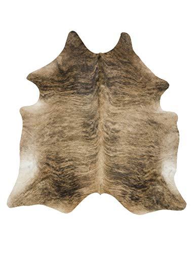 Tomtom Cowhides Brindle Medium Cowhide Rug 100% Natural Leather Rugs 7' x '6