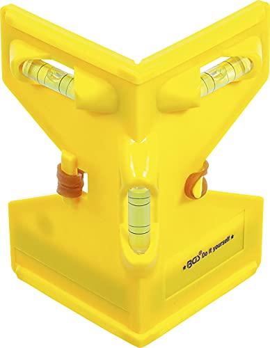 BGS Diy 50877 | Pfosten-Winkel-Wasserwaage | Pfostenwasserwaage | Material: Kunststoff