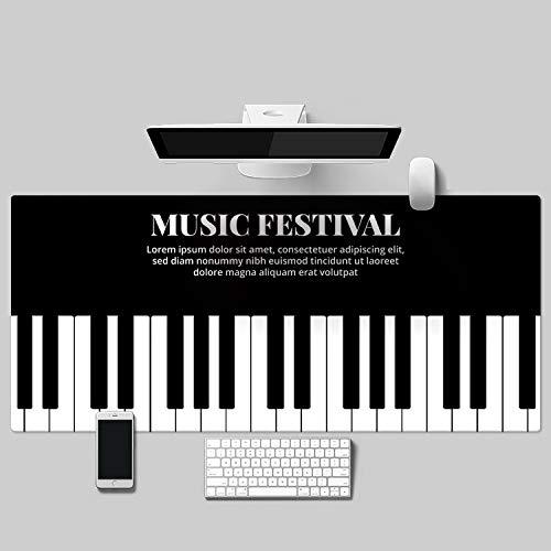 Alfombrilla Ordenador Piano Imagen Grande Negro Mouse Pad Pc Y Ordenador Portátil...