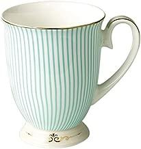 Jusalpha Royal Fine Bone China Light Blue Stripe Coffee Mug/Tea Cup/Gift Box (Mug02)