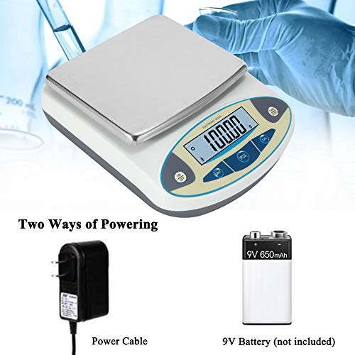 Bonvoisin Lab Scale 500gx0.01g High Precision Electronic Analytical Balance 0.01g Accuracy Laboratory Lab Precision Scale Digital Kitchen Balance Scale Jewelry Scale Scientific Scale (500g, 0.01g)