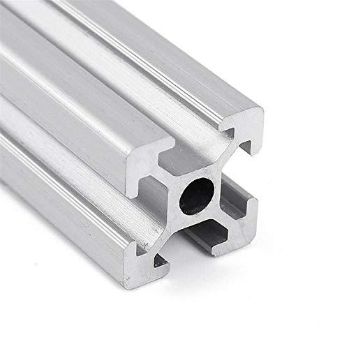 TPCYAN Tornillo de Plomo, Marco de extrusión de Perfil de Aluminio de 150-1000 mm 2020 V-Slot, para Impresora 3D CNC Pista DIY, Espesor de Pared 1.5mm (Size : 400mm)