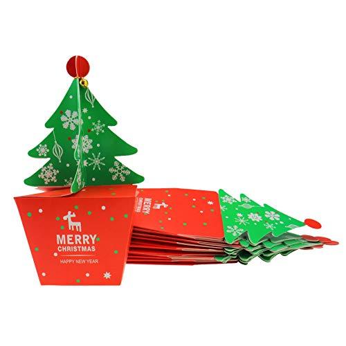 ENET 20X 3D Vrolijke Kerstboom Bell Party Favor Gift Candy Cupcake Verpakking Doos