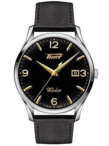Tissot Herren-Uhren Analog Quarz One Size Leder 87590518