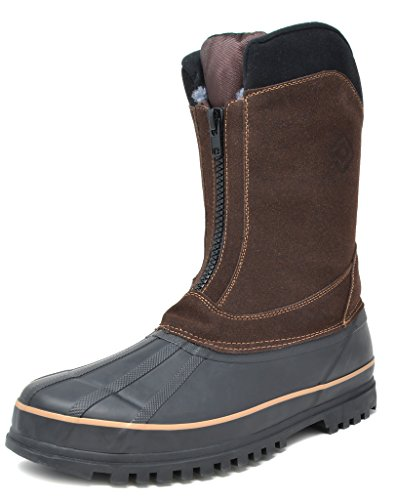Dream Pairs Men's Viking-2 Brown Insulated Waterproof Winter Snow Boots Size 12 M US