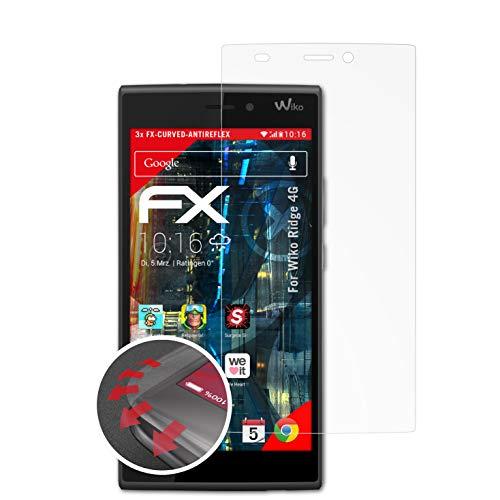 atFolix Schutzfolie kompatibel mit Wiko Ridge 4G Folie, entspiegelnde & Flexible FX Bildschirmschutzfolie (3X)