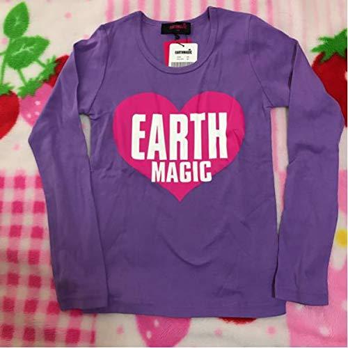EARTHMAGIC アースマジック 長袖 Tシャツ パープル 140㎝