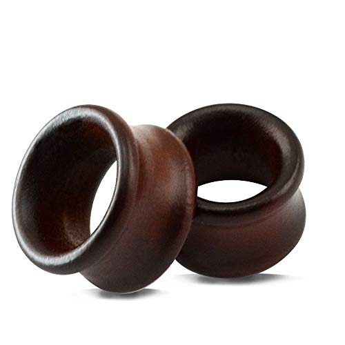 1 Pare Dilatación de Oreja Marrón Natural de la Vendimia Expansores Oreja de Madera Orgánico Túnel del Oído Hombre Mujer 8-25mm