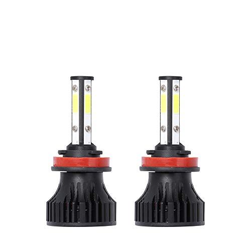 2 unids LED CARIR DE CARIENTE Bulbs, H7 H8 H9 H11 H13 9007 5202 LED 9005 HB3 9006 9004 HB4 9012 Lights, 6500K LED Bulb Footlights, Plug and Play, Adecuado para el 99% de los Autos,H9