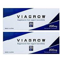 VIAGROW 男性用 サプリメント 20錠 (2個セット)