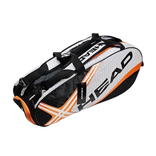 Zidao Bolsa de Tenis, Raqueta de Tenis de los Hombres Bolsa Grande de Tenis Raquetas de Tenis Mochila Mochila Raquetas Orange,2
