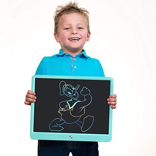 A/N - Tablet de escritura LCD, tableta gráfica borrable de 10/15 pulgadas para niños, Doodle Tablet tabla de dibujo con interruptor de bloqueo, pizarra para escritorio azul azul 15 pouces