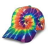 Colorful Tie Dye Swirl Design Rainbow Spiral Print Personalized Baseball hat Snapback Ball Cap for Women Men Running