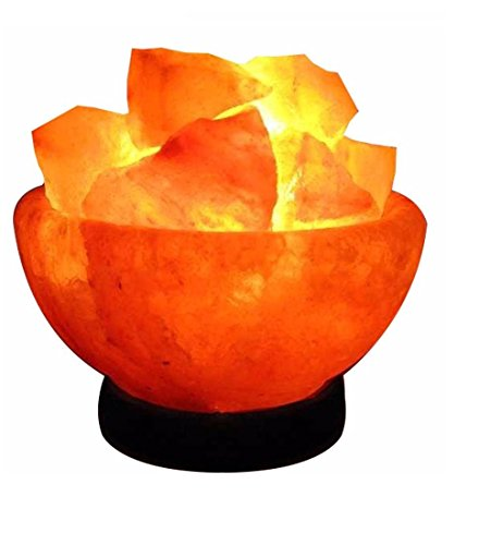 Himalayasalz Feuer-korb mit Himalayasalz Stücken IONES Therapeutische 100{856326784f701b1e8edae2ce809ba04e589d4655d824f6f196a06863d42a4e89} Rein Himalaya Salzkristall Lampe Gute Qualität auf hölzernem Basis
