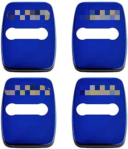 JKBDNB 4 Piezas De Acero Inoxidable Cerradura De Puerta Cubierta Decorativa Oxidada, para Mini Jcw Countryman Cooper S Paceman 2013-2016, Cerradura De Puerta De Coche, Tapa con Hebilla, Cubierta