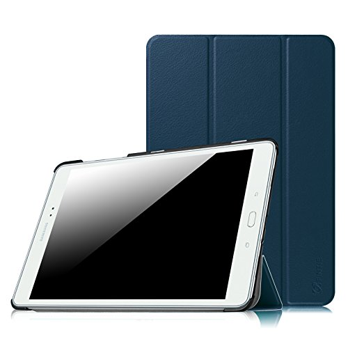 FINTIE Custodia per Samsung Galaxy Tab A 9.7 - Ultra Sottile di Peso Leggero Tri-Fold Case Cover con Funzione Sleep Wake per Samsung Galaxy Tab A 9.7  SM-T550   SM-T555 Tablet, Blu Scuro