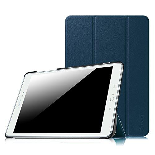 Fintie Hülle für Samsung Galaxy Tab A 9.7 ZollT550N / T555N Tablet-PC - Ultra Schlank Superleicht Ständer SlimShell Cover Schutzhülle Etui mit Auto Schlaf/Wach Funktion, Marineblau