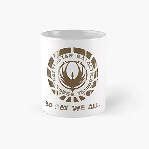 Battlestar Galactica Insignia So Say We All Classic - Taza de café divertida, 11 onzas