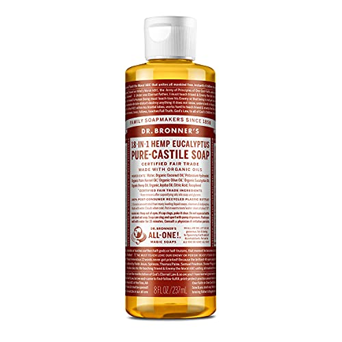 DR BRONNERS - Savon liquide bio à l'eucalyptus Castille, 237 ml (lot de 1)