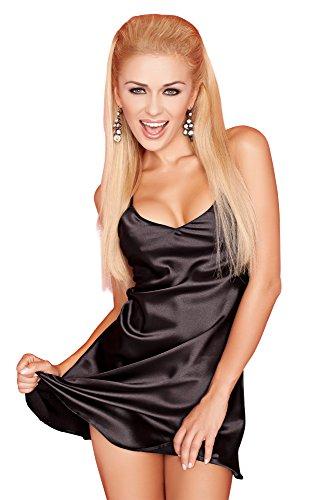 spass42 sexy Damen Nachtkleid aus Satin mit Spagettiträger Nachtwäsche Nachthemd Negligee Sleepshirt Groesse: XXL