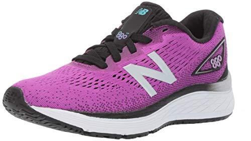 New Balance Girls' 880v9 Running Shoe, Voltage Violet/Black, 6 W US Big Kid