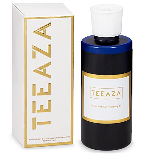 Teeaza Organic Pumpkin Seed Hair Oil with Natural Vitamin E.Hair Growth...