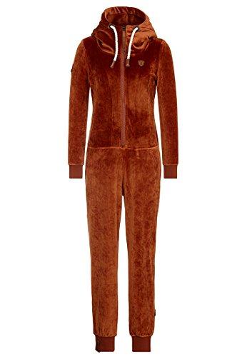 Naketano Damen Overall Blaumann Mack III Jumpsuit- Gr. S, Copper